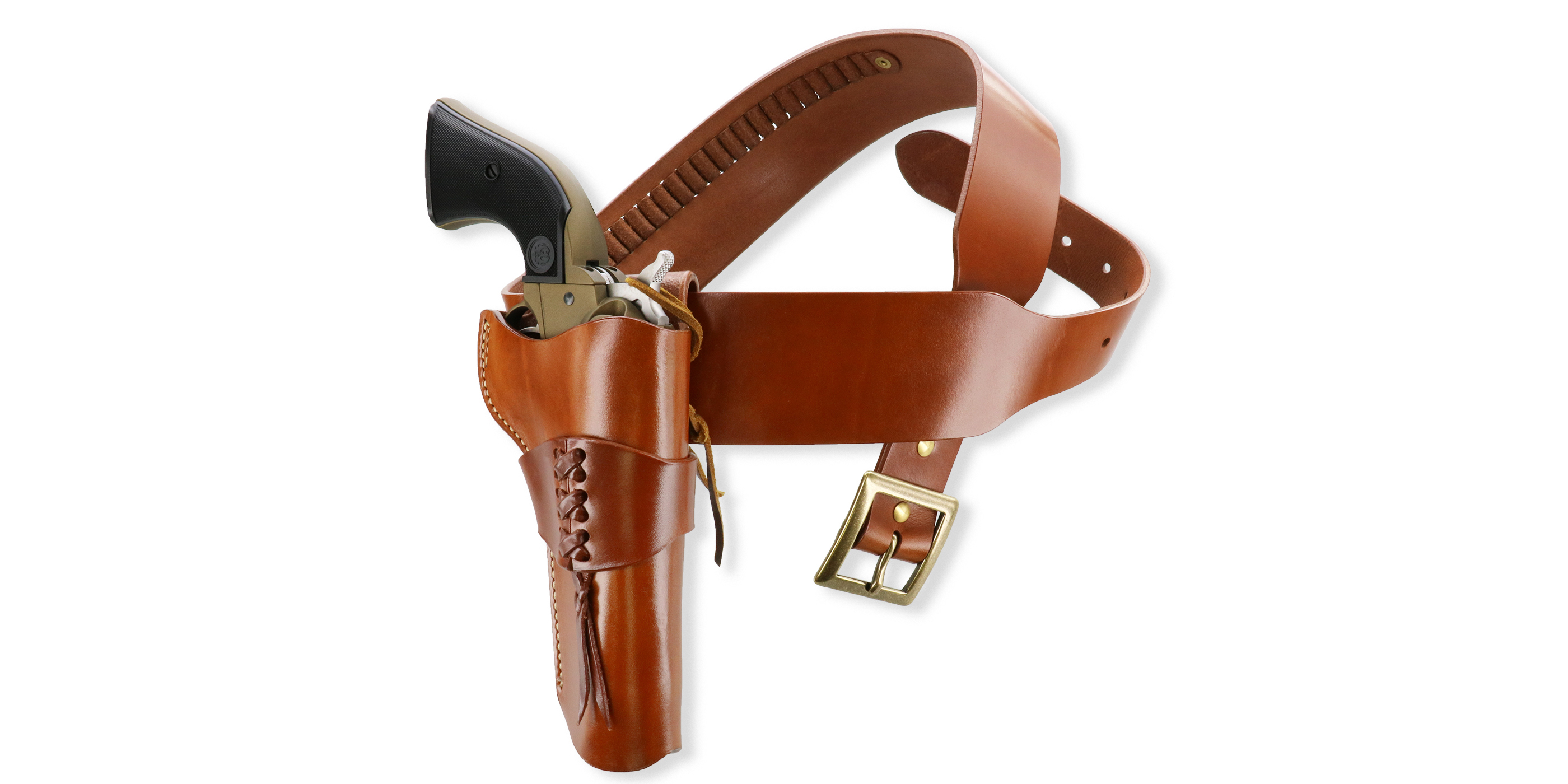 NEW Cowboy Accoutrements! Galco Holster & Cartridge Belt for Ruger Wrangler