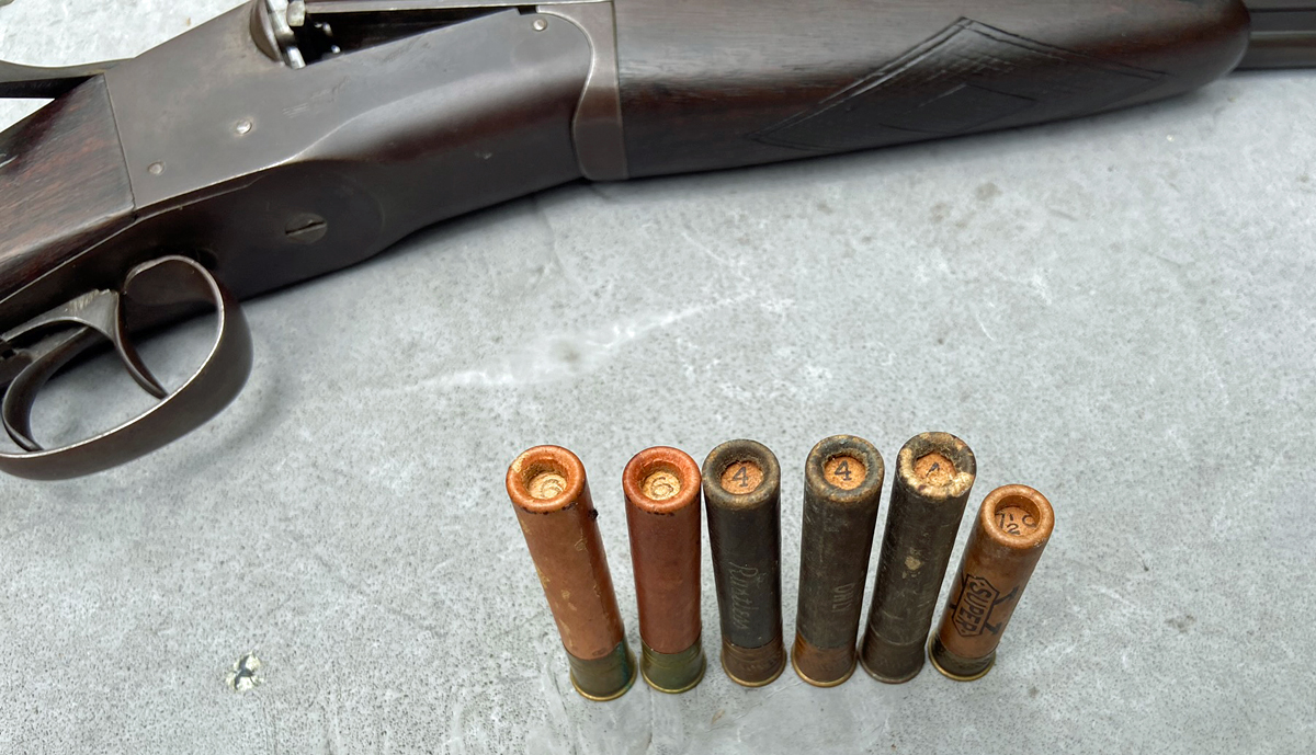 """Some of the old paper shotgun shells I used to hunt with. Dad had this old gun bored out to accept 3"""" shells. (Photo © Russ Chastain)"""