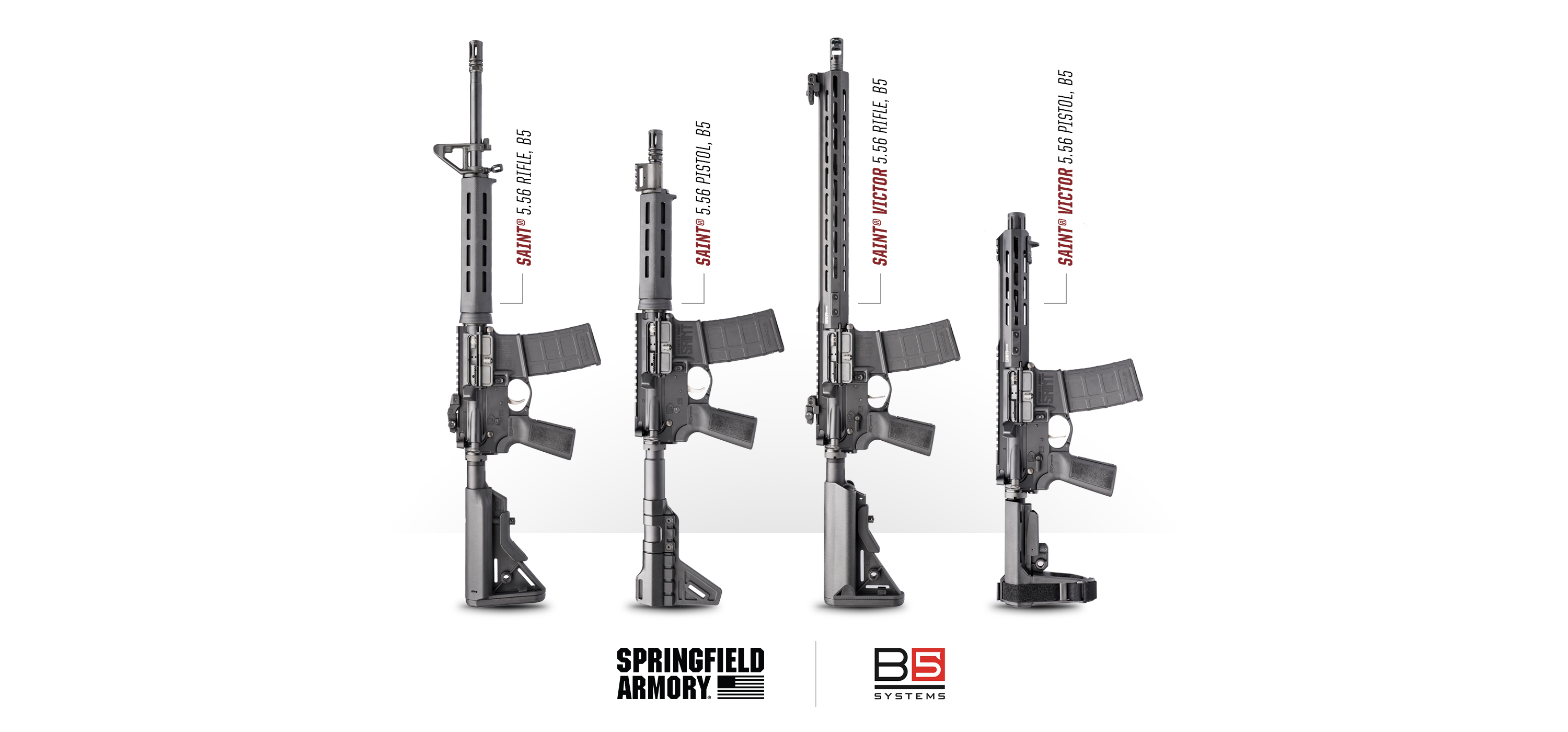 NEW B5 Systems Equipped Springfield SAINT AR-15 Rifles & Pistols