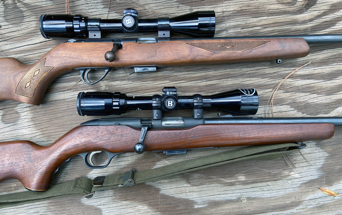 These rifles are old, but they've served well. Savage 65M (top) and Mossberg Chuckster 640KA. (Photo © Russ Chastain)