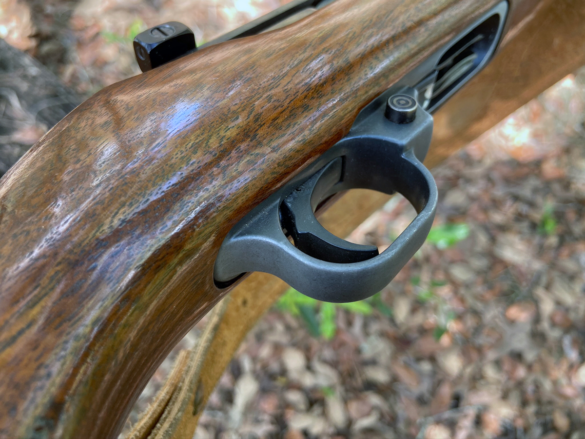 Every bit of finish is worn off the back of the trigger guard. (Photo © Russ Chastain)