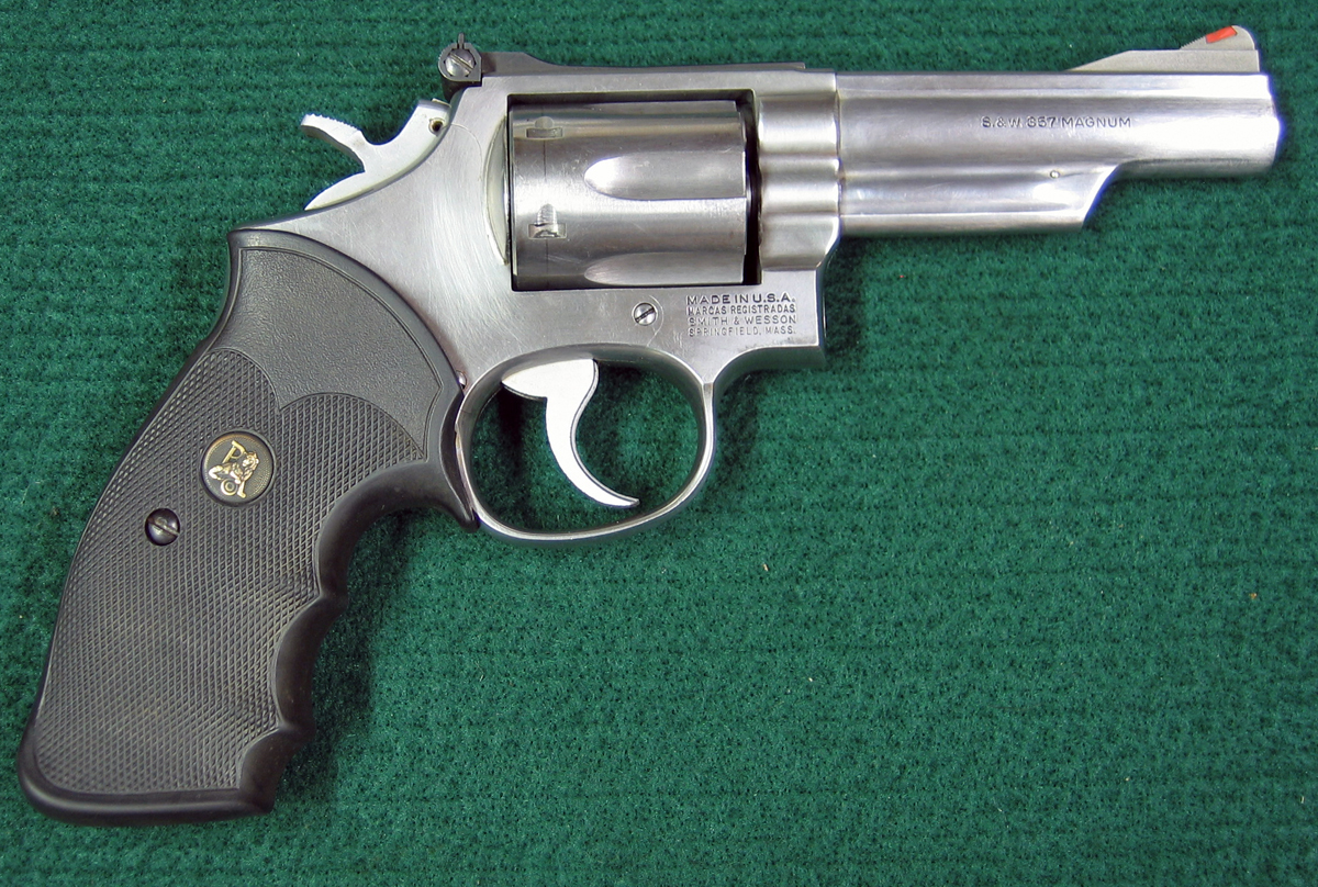 "Right side of S&W Model 66-1 double action revolver with 4"" barrel. (Photo © Russ Chastain)"