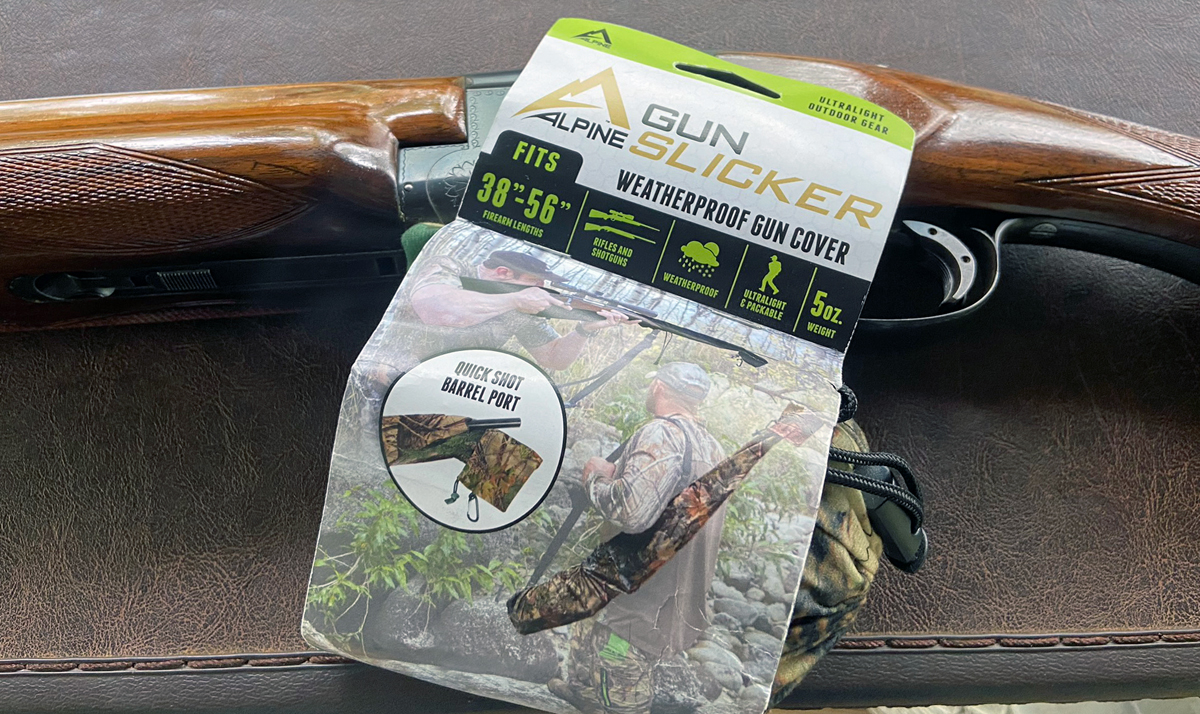 The Alpine Gun Slicker comes in this packaging. (Photo © Russ Chastain)