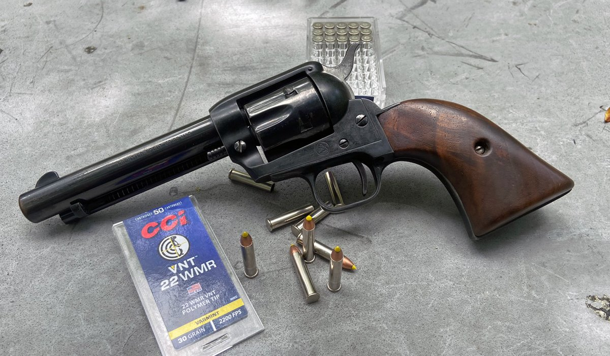 Clocking CCI VNT 22 Magnum Ammo in a Revolver