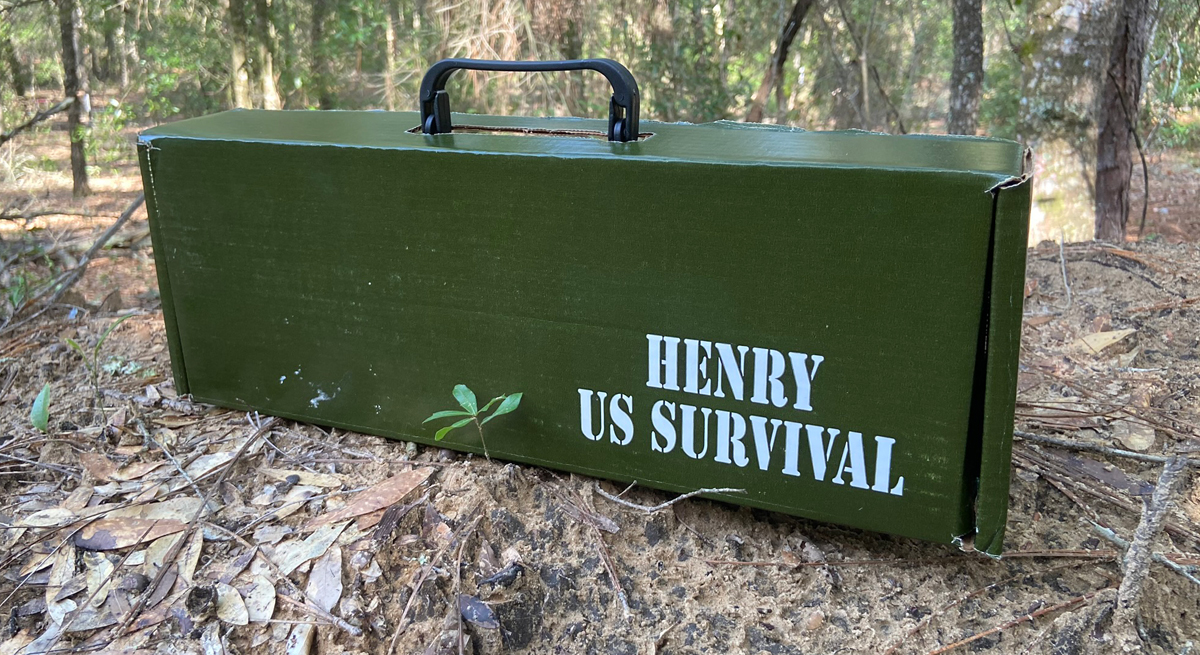 The Henry U.S. Survival AR-7 comes in this box. (Photo © Russ Chastain)