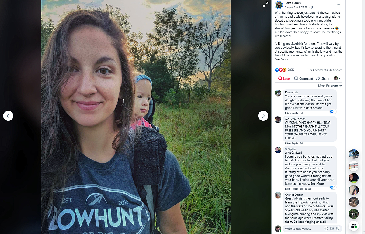 Beka Garris's Advice for Hunting With Kids on Your Back