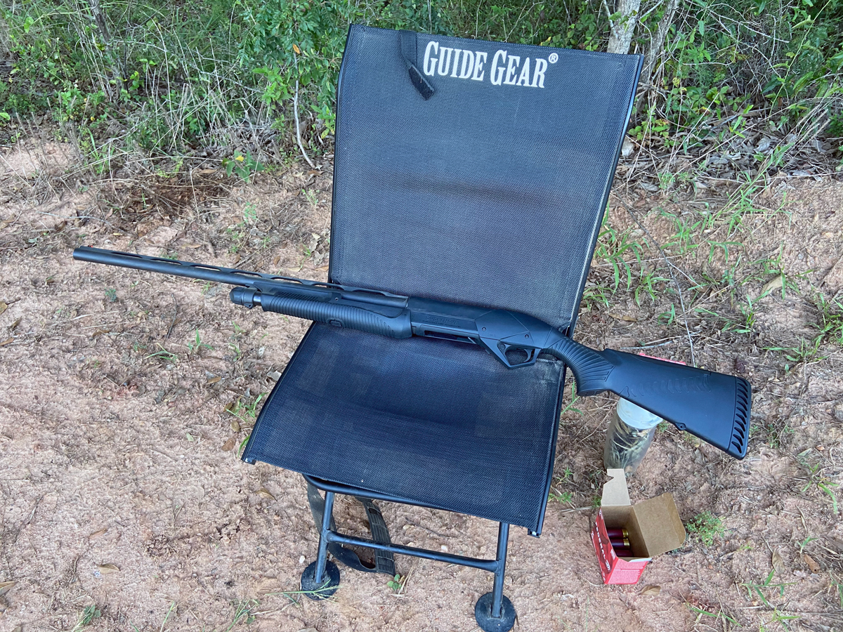 Shotgun, ice water, some shells, and a comfortable seat. (Photo © Russ Chastain)