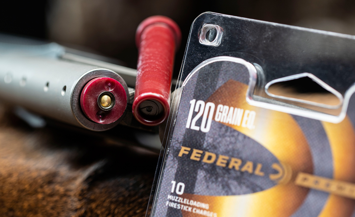 Federal FireSticks with a Traditions Nitrofire rifle. (Image: Vista Outdoor)