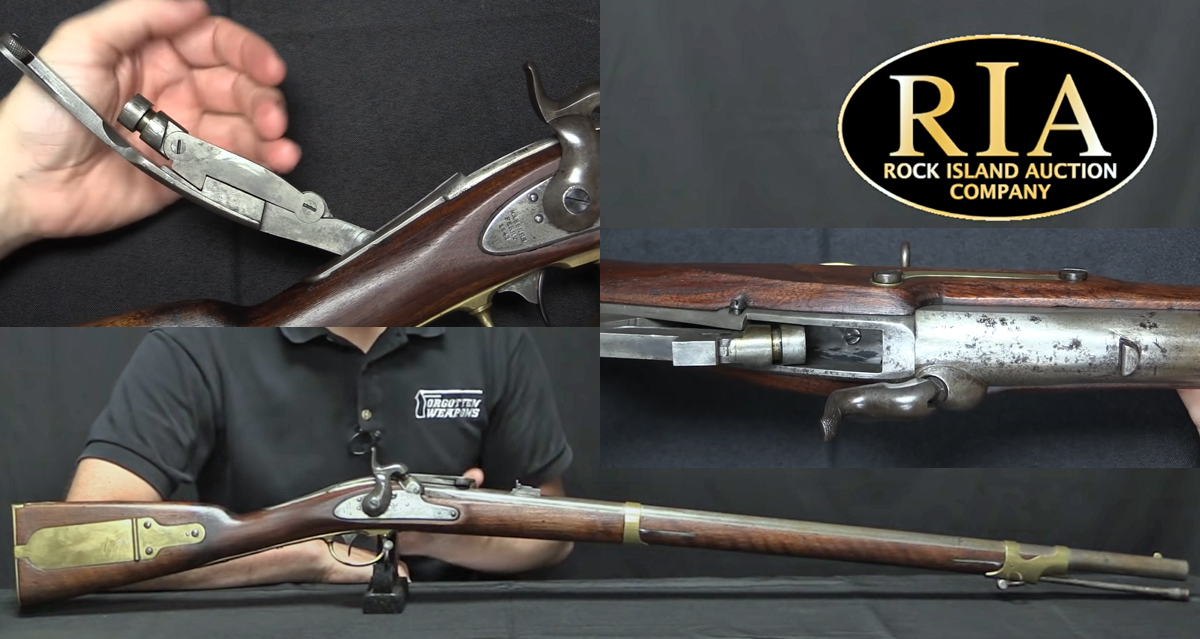 """Breech-Loading Conversion of a Harper's Ferry 1841 """"Mississippi Rifle"""""""
