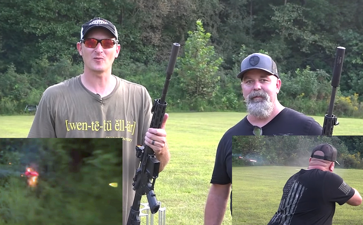 Shooting Clays With 22 LR Full-Auto Tracers!