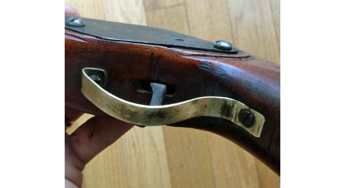 The trigger guard is crude but effective... and does have a certain grace. (Image: Randy Snider, used by permission)
