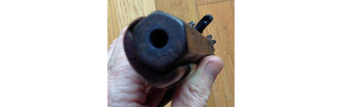 The muzzle of the hand-made pistol. (Image: Randy Snider, used by permission)