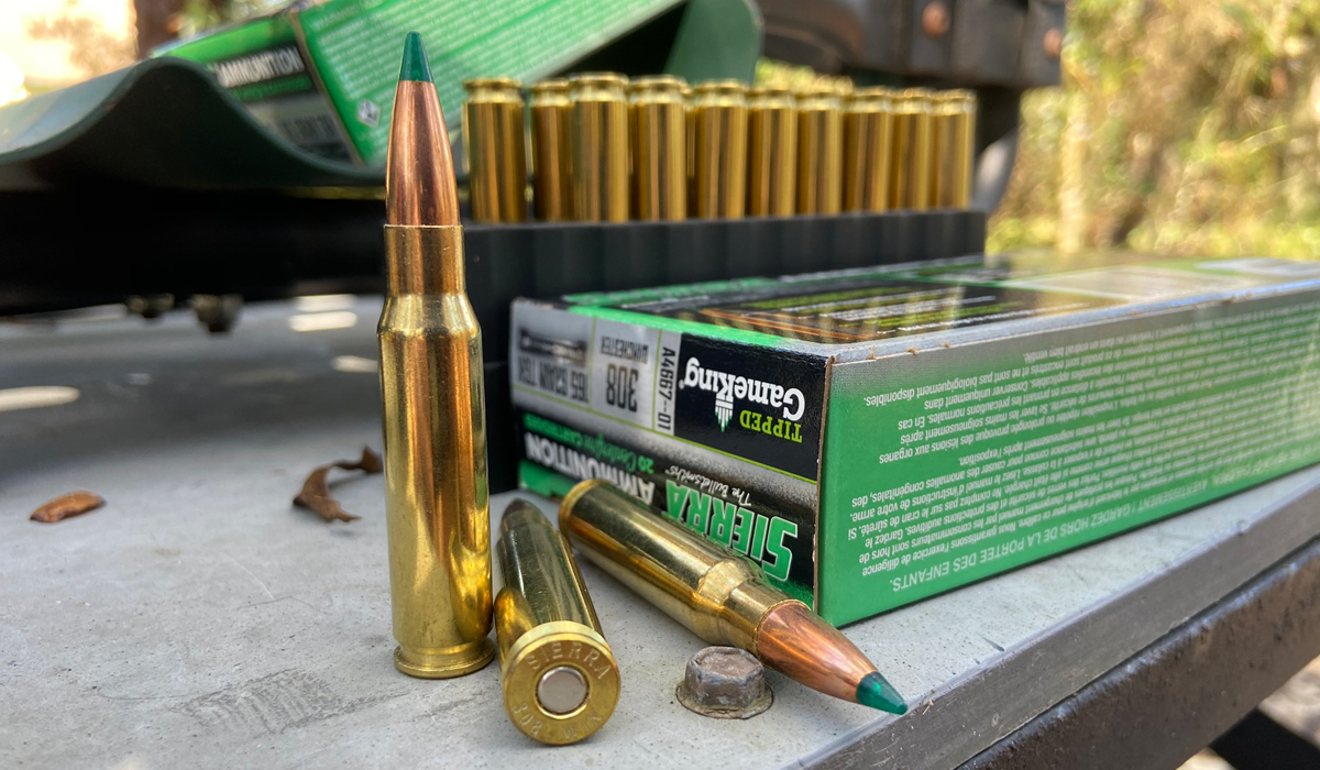 Sierra GameChanger 308 Win hunting ammo with 165-grain TGK bullets. (Photo © Russ Chastain)