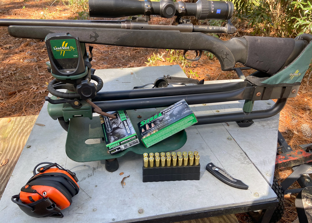 Getting ready to sight-in an old rifle with some new ammo. (Photo © Russ Chastain)