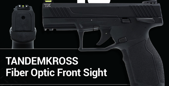 New TANDEMKROSS Fiber Optic Front Sights for Taurus Handguns