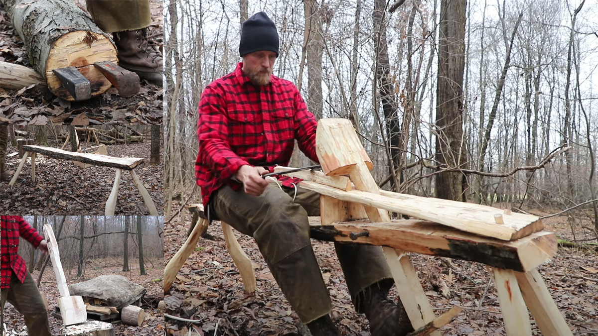 Bushcraft Woodworking: Building a Shave Horse