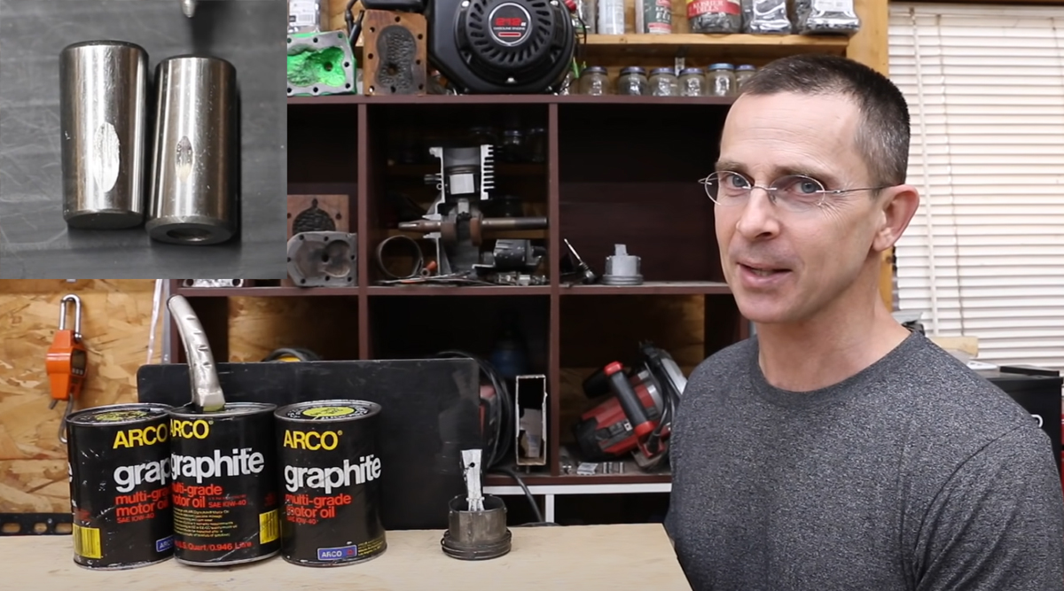 Graphite in Engine Oil? Let's Watch
