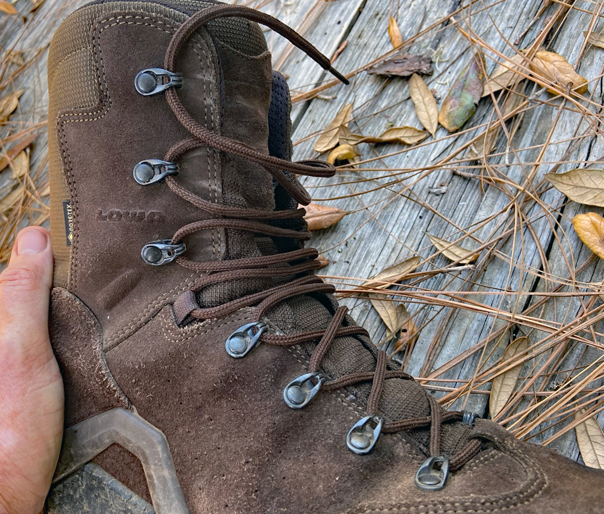 LOWA Z-8S GTX laces. (Photo © Russ Chastain)