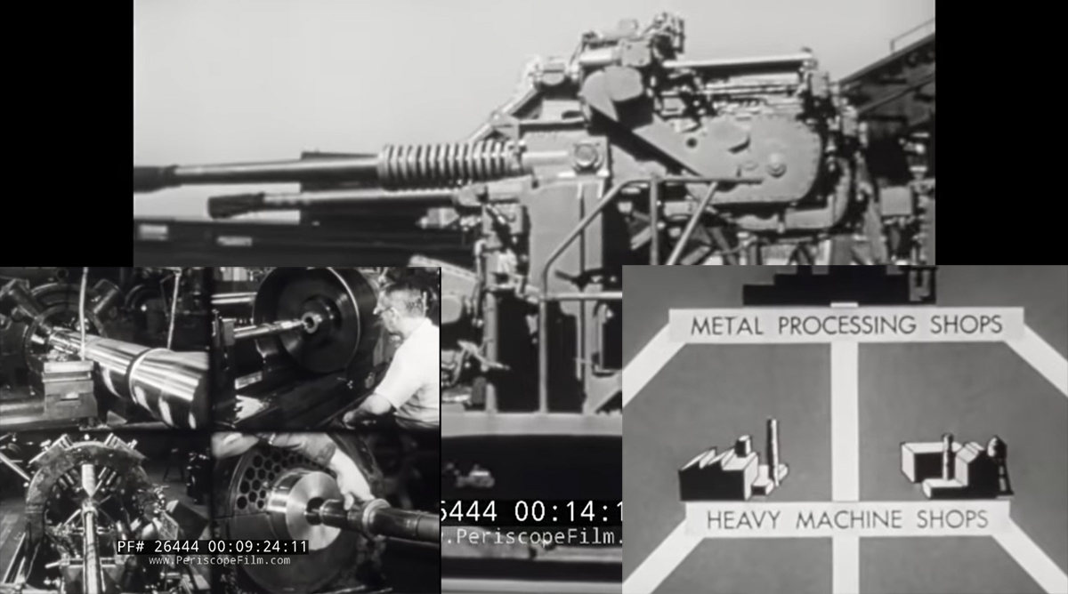 A Cool Old Military Film Showing the Naval Gun Factory