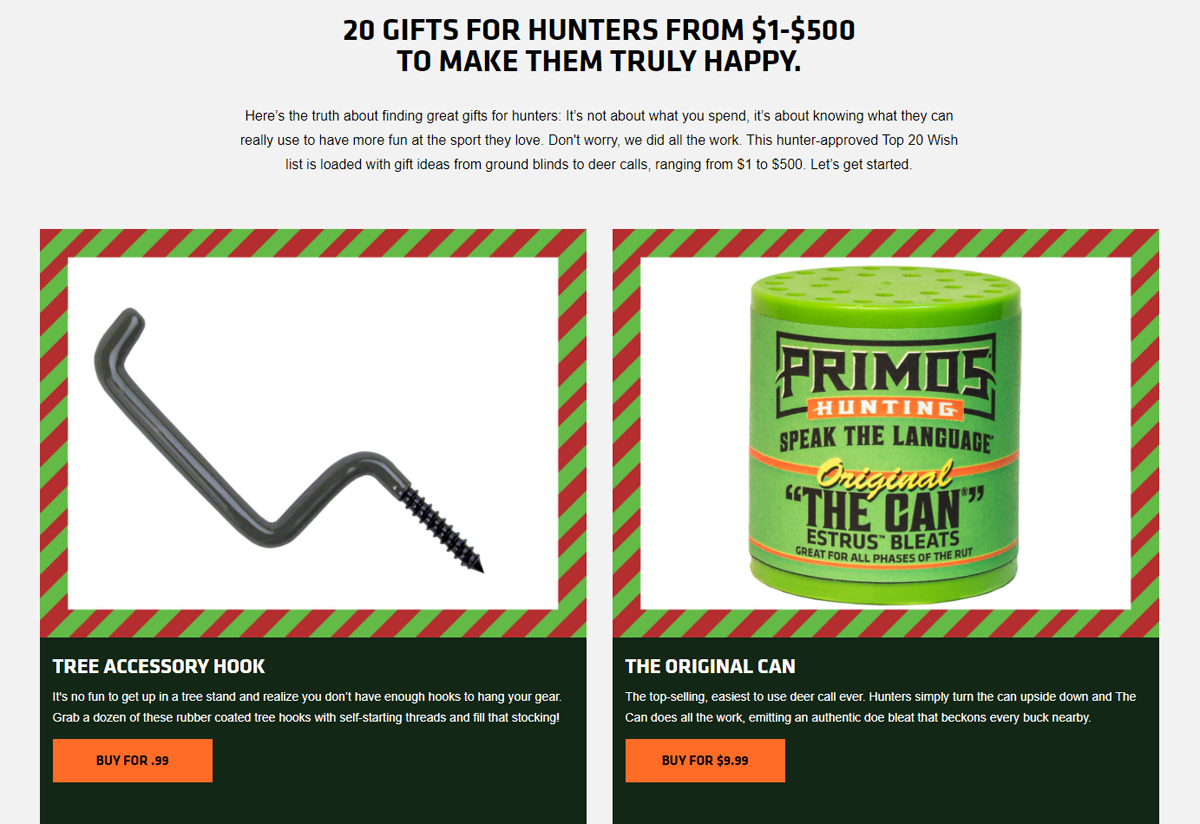 Primos Offers 2020 Best Gifts for Hunters Guide