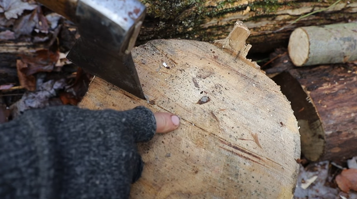 How to Split a Log With Just a Hatchet