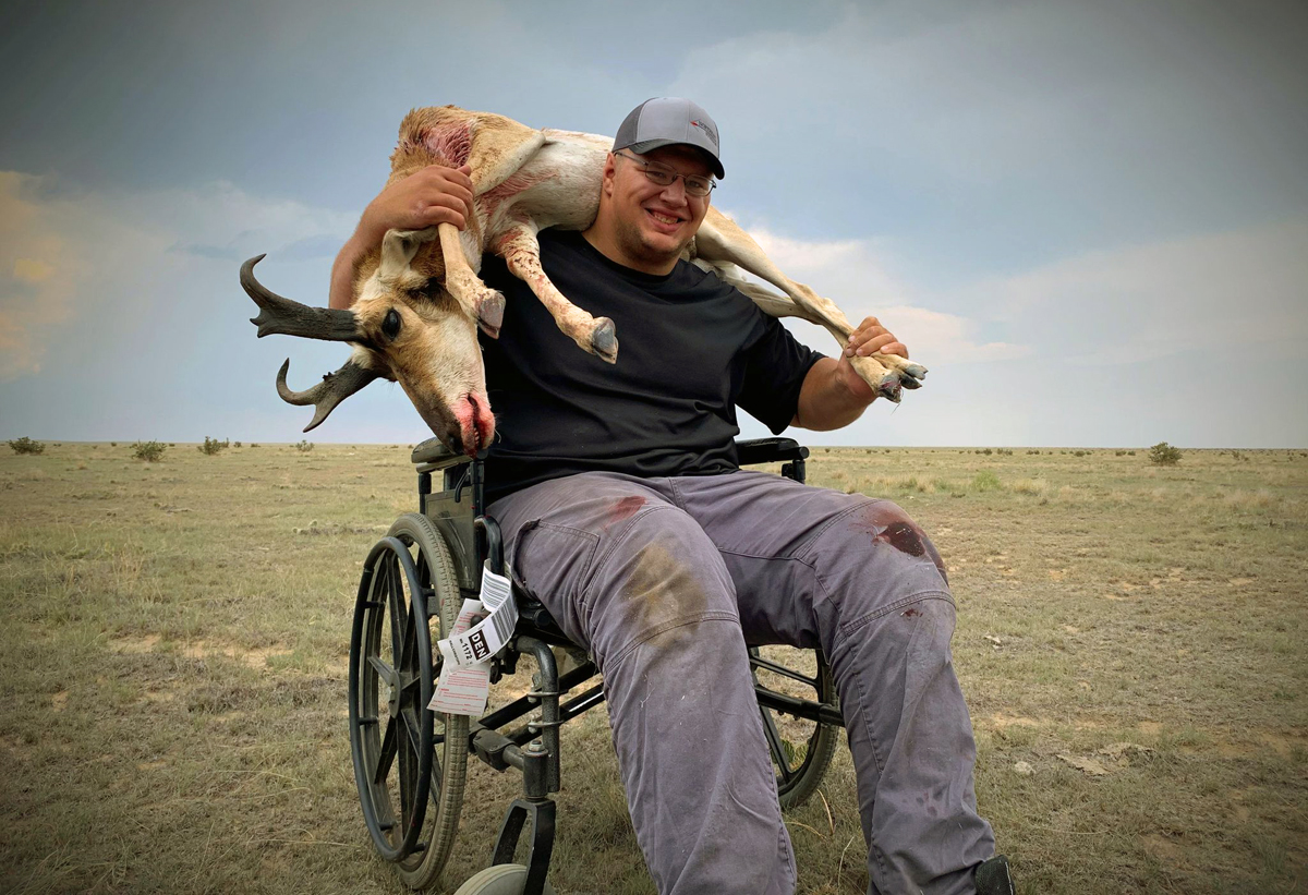 Disabled Hunter Chris Hall is an Inspiration to Others
