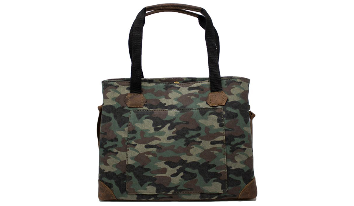 Versacarry concealed carry purse in camo canvas.