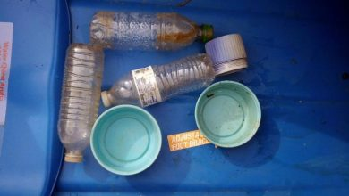 Kayak, water bottle, recycling, leave no trace, garbage