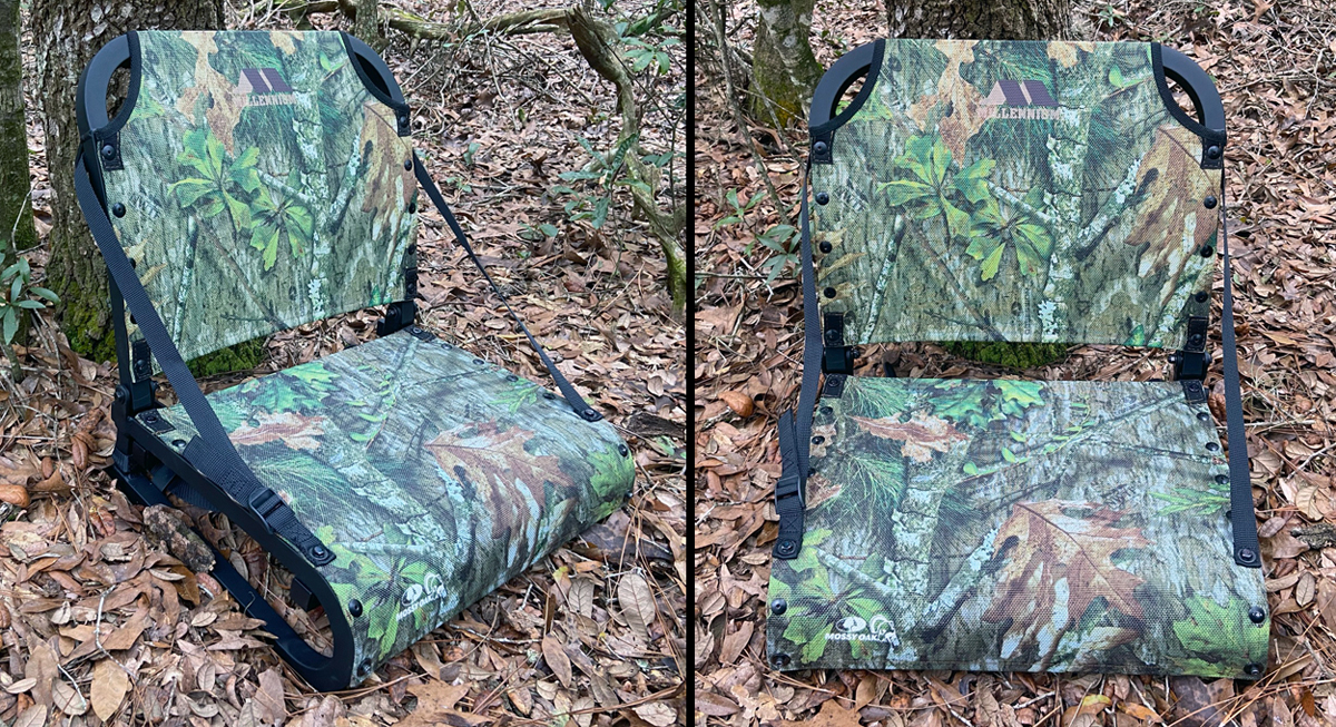 This turkey hunting seat is built for comfort. (Photo © Russ Chastain)