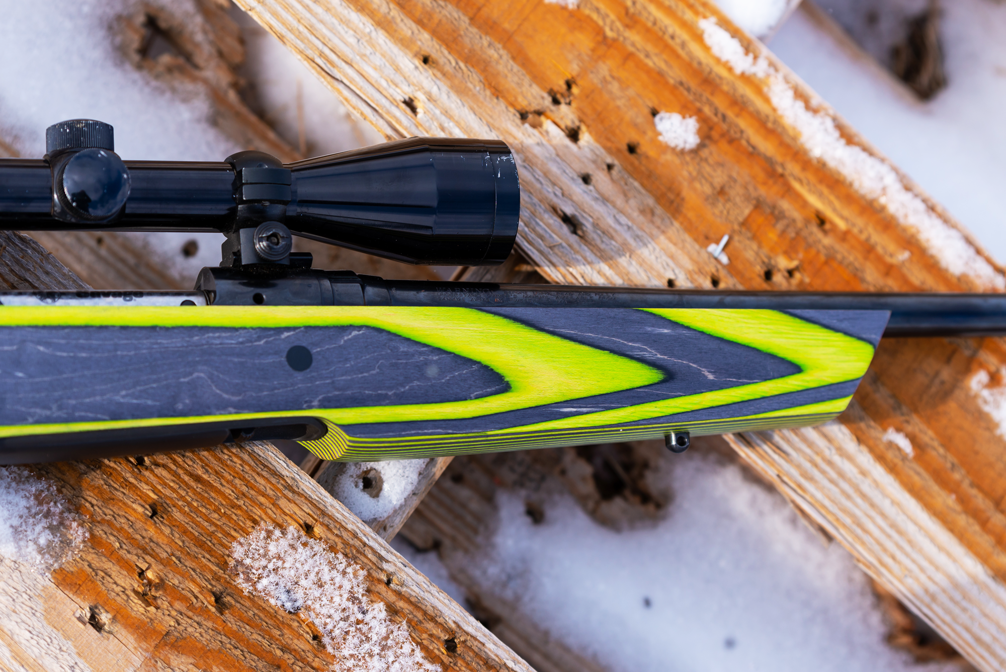 New Savage 10 Bottom Bolt Release Rifle with Boyds Laminated Stocks