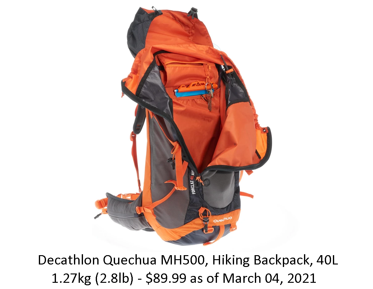 Decathalon Quechua MH500, Hiking Backpack, 40L