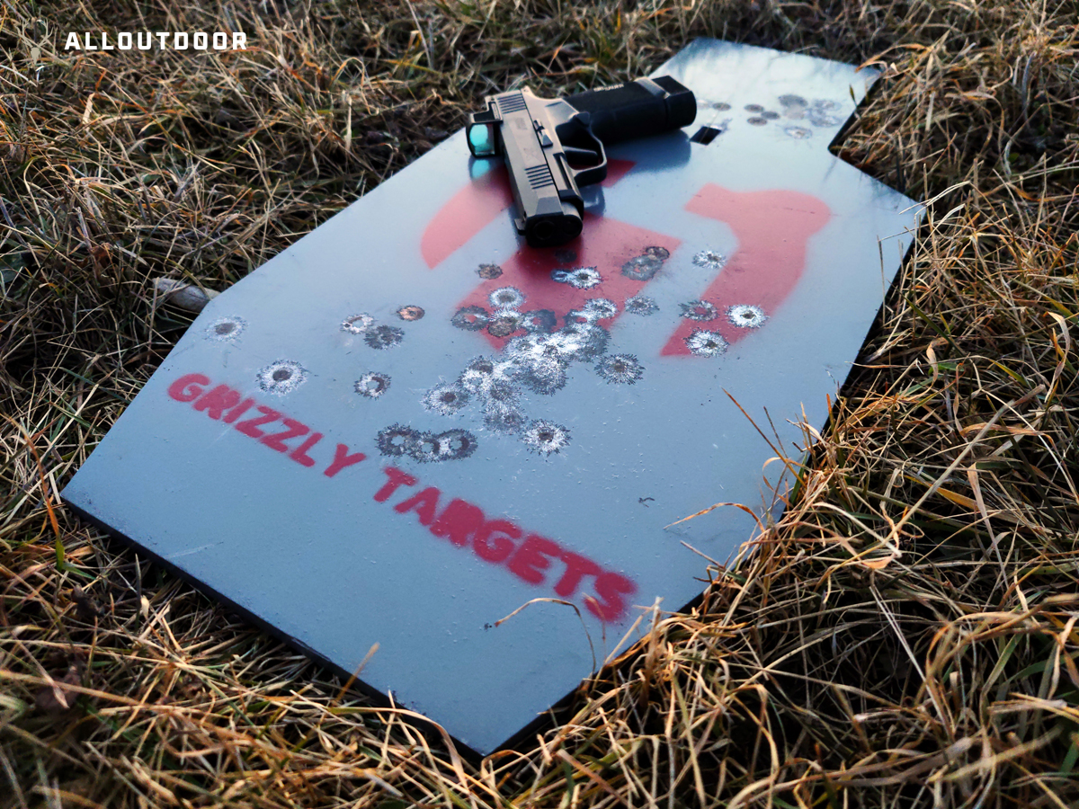 AO Review: Grizzly Targets AR500 IPSC Center Hang Target Package