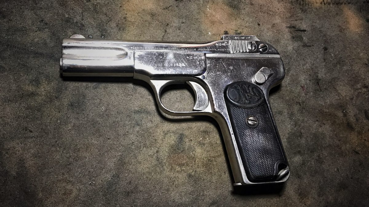 POTD: The FN 1900 – The First Pistol with a Slide!