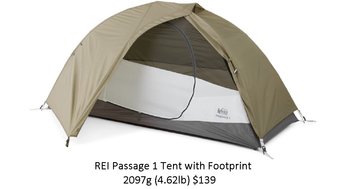 REI Passage 1 Tent with Footprint