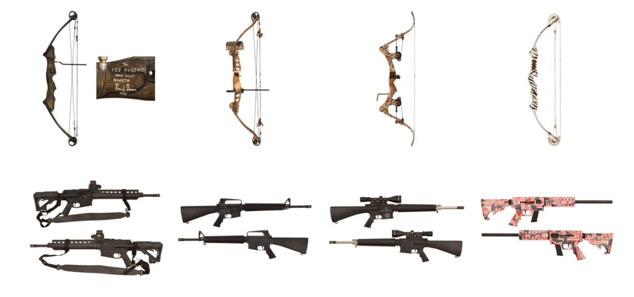 Guns, Bows and Knives Being Auctioned off By Ted Nugent