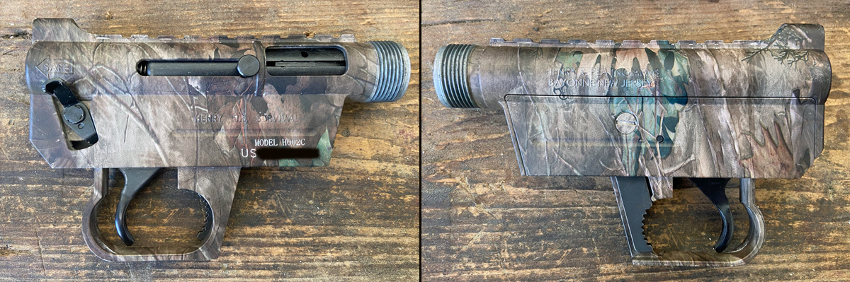 Both sides of the AR-7 receiver. (Photo © Russ Chastain)