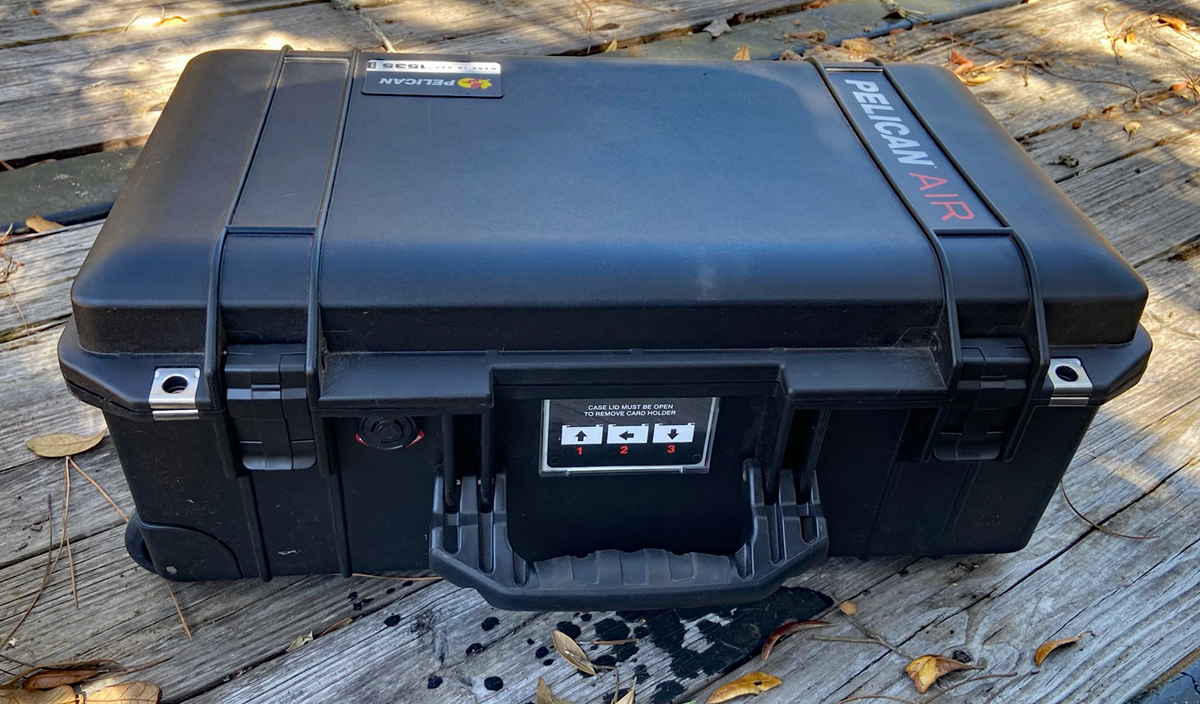 The Pelican 1535 is a tough case (Photo © Russ Chastain)