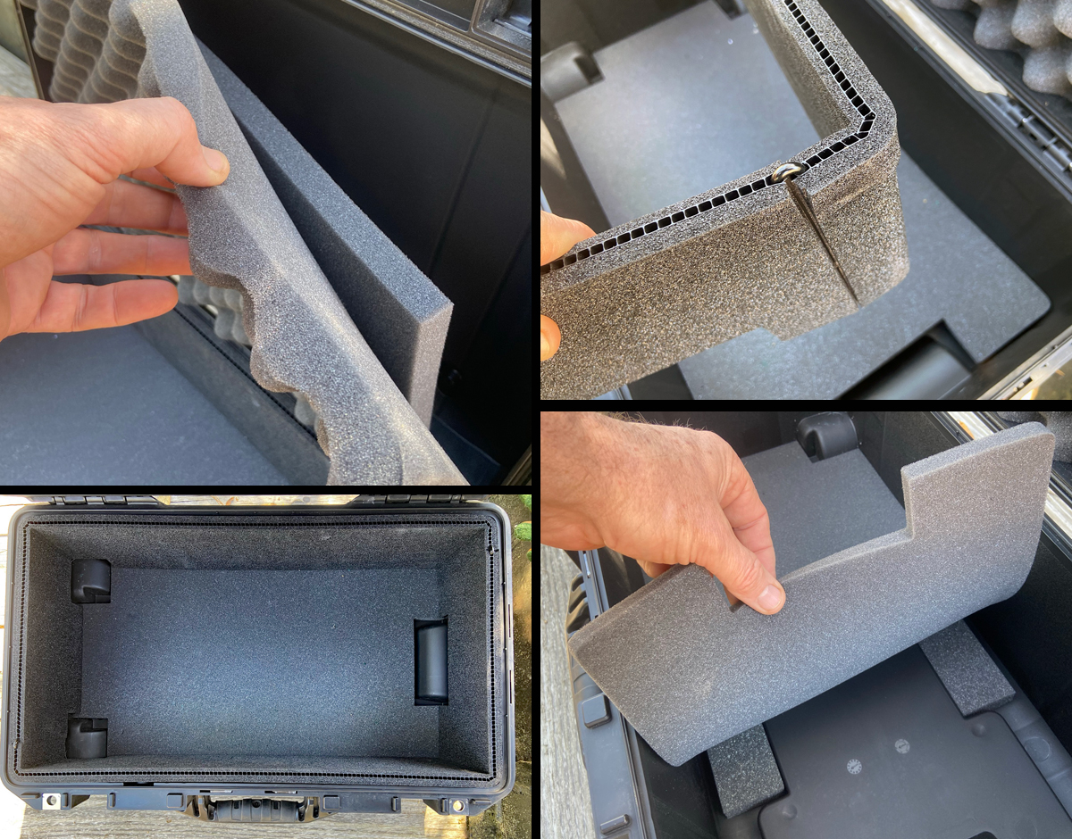Interior foam is easy to remove (Photo © Russ Chastain)