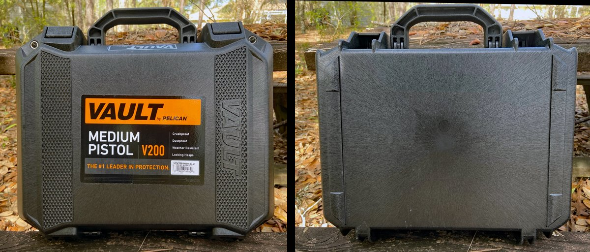 Top and bottom views of Pelican Vault V200 (Photo © Russ Chastain)