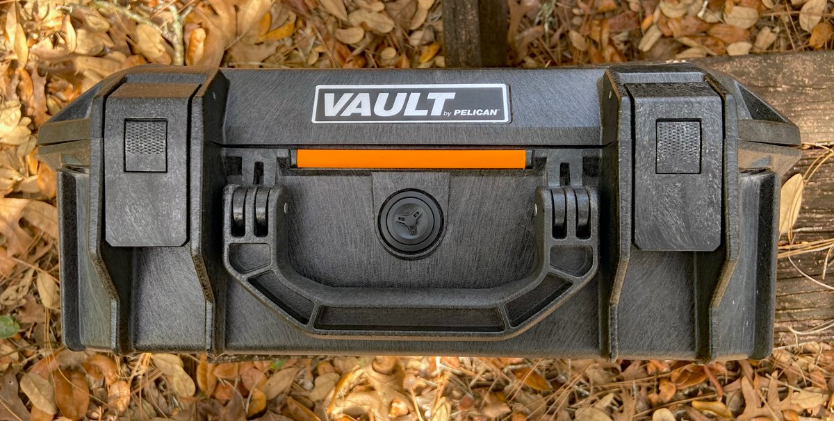 Front view of Pelican Vault V200 (Photo © Russ Chastain)
