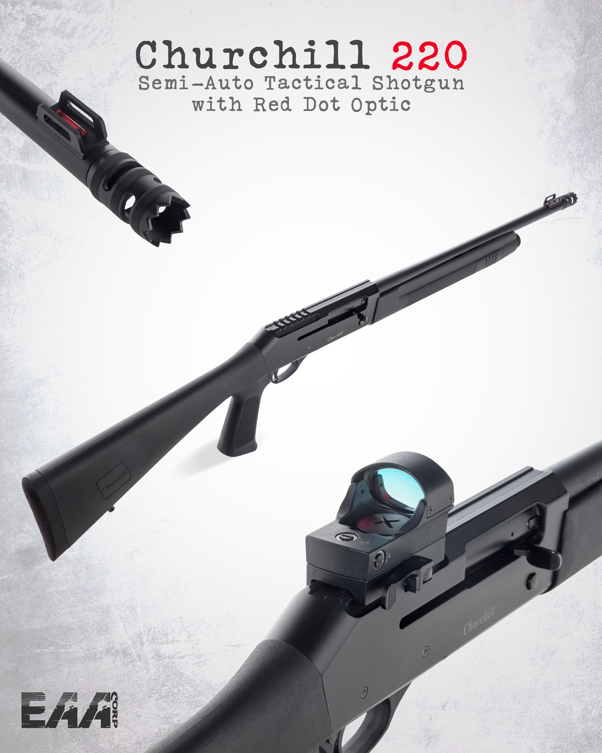 EAA/Akkar Churchill 620 and 220 Optics-Ready Shotguns