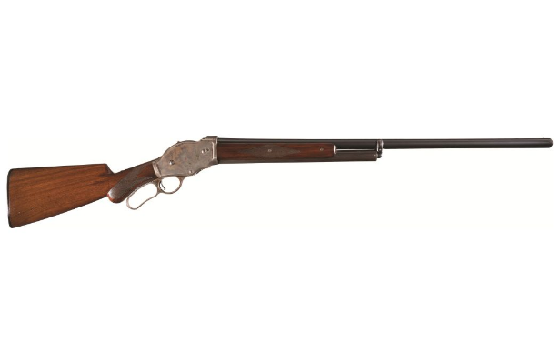 POTD: Before Arnold Was Back – Winchester 1887 Lever Action Shotgun