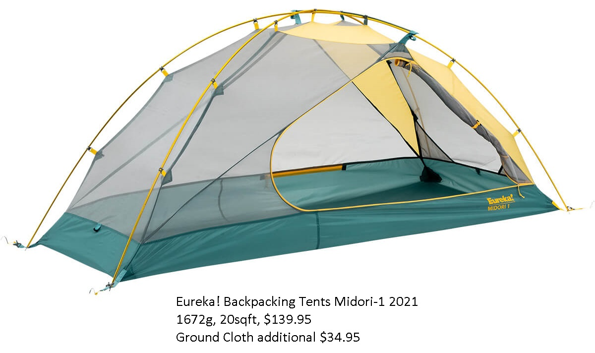 Walmart Moosejaw Lithic One Person Backpacking Tent EUREKA TENT
