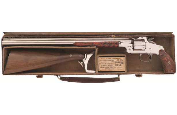 POTD: Top Break and Revolving Rifle? Smith and Wesson Model 320