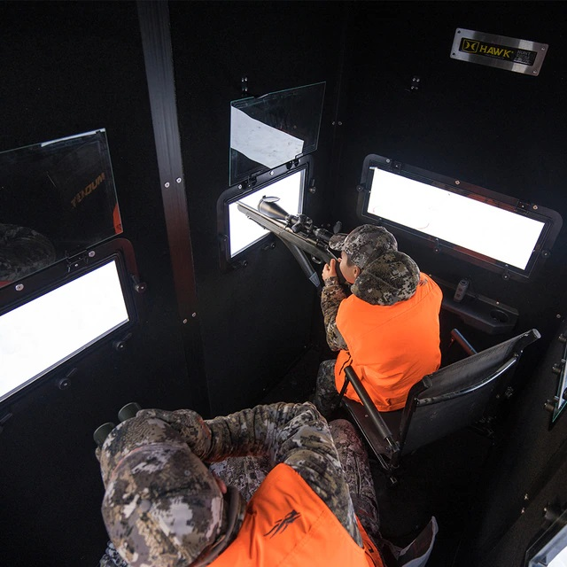 """New 'Double Down"""" Box Blind From Hawk Hunting"""