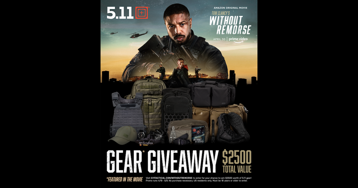 """Amazon Studios & 5.11 Tactical $2.5K Giveaway for """"Without Remorse"""""""