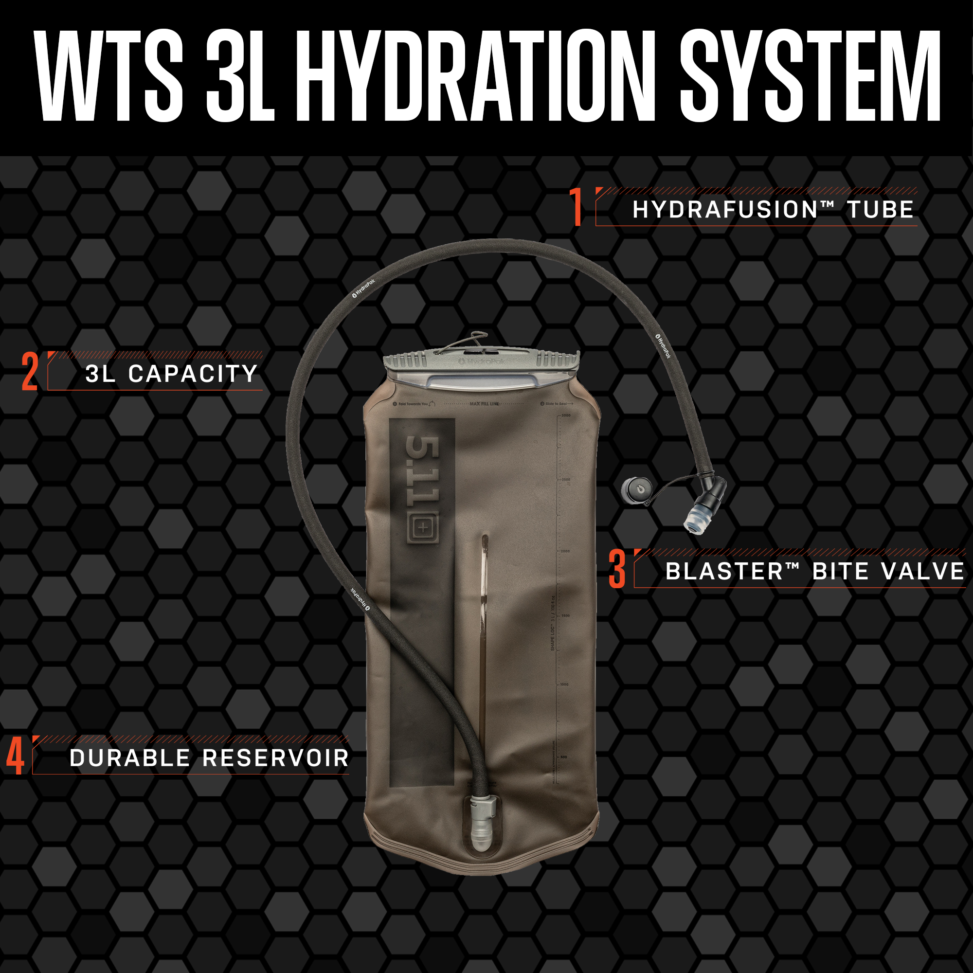 5.11 Introduces the New WTS 3L Hydration System